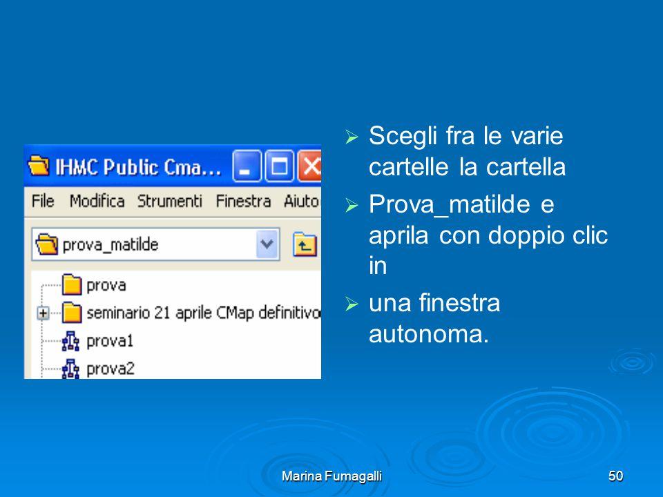 Marina Fumagalli50   Scegli fra le varie cartelle la cartella   Prova_matilde e aprila con doppio clic in   una finestra autonoma.