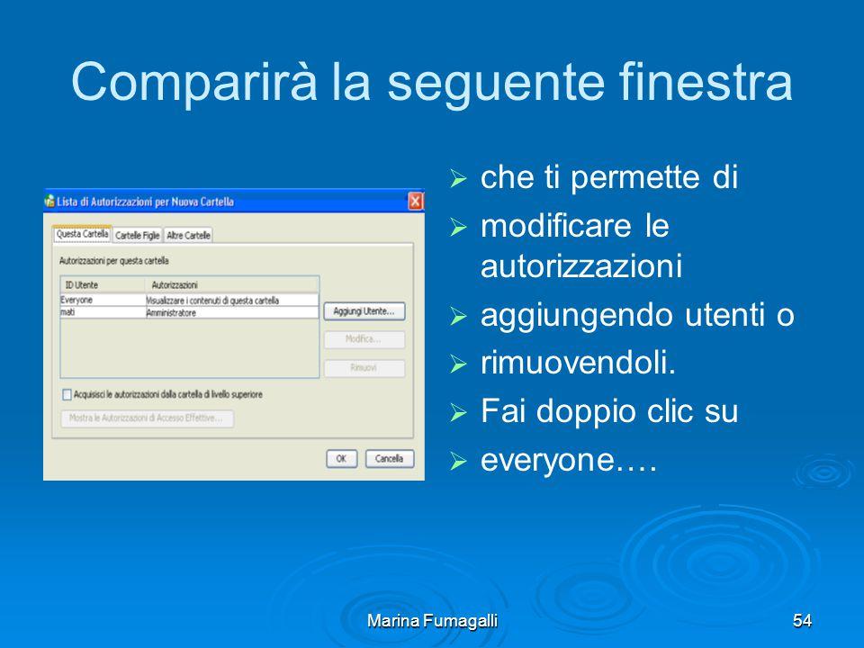 Marina Fumagalli54 Comparirà la seguente finestra   che ti permette di   modificare le autorizzazioni   aggiungendo utenti o   rimuovendoli.