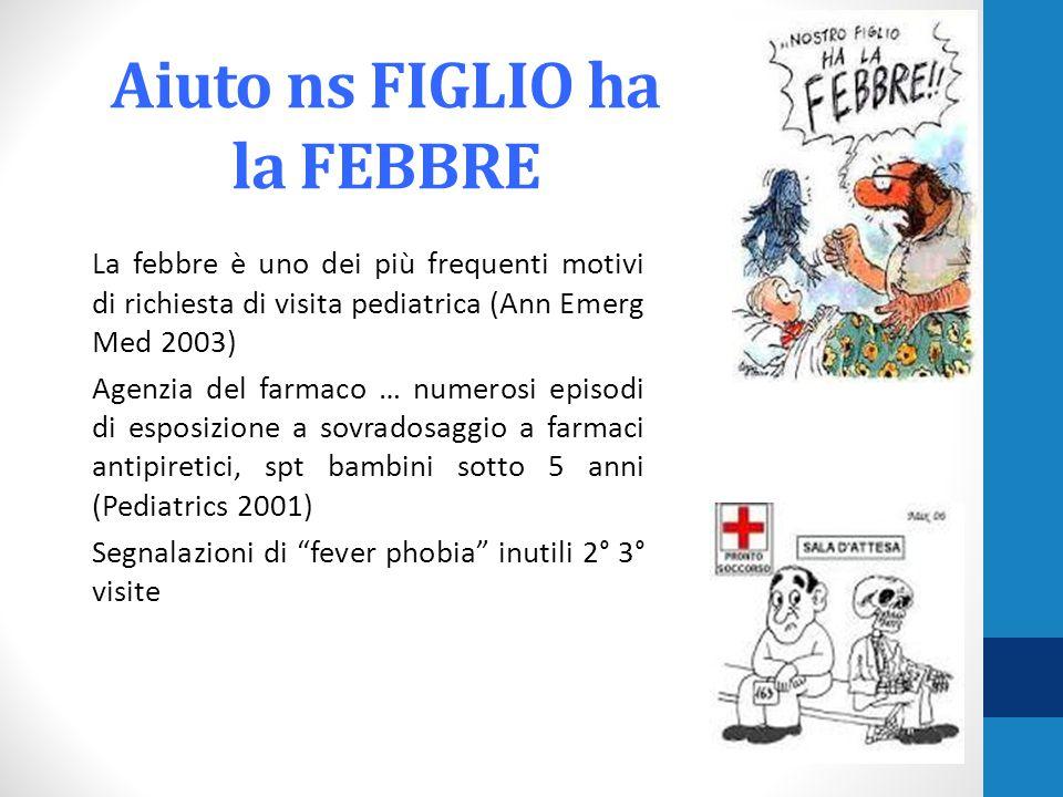 Aiuto ns FIGLIO ha la FEBBRE La febbre è uno dei più frequenti motivi di richiesta di visita pediatrica (Ann Emerg Med 2003) Agenzia del farmaco … num