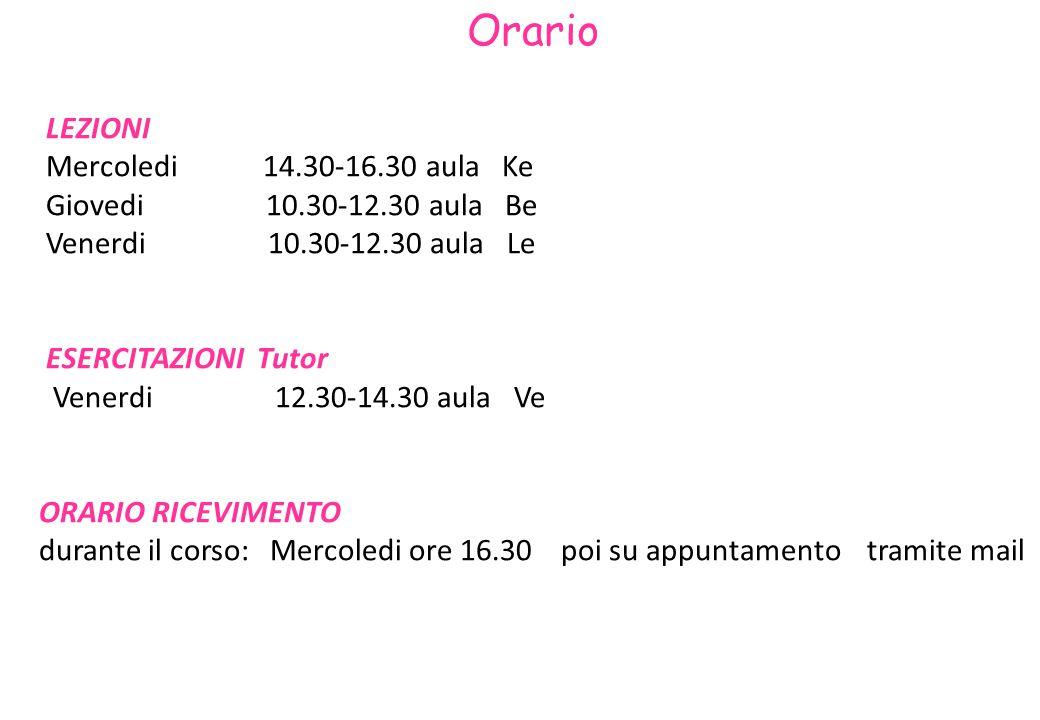 3 Alcune informazioni Corso con due canali: Canale 1 : prof.