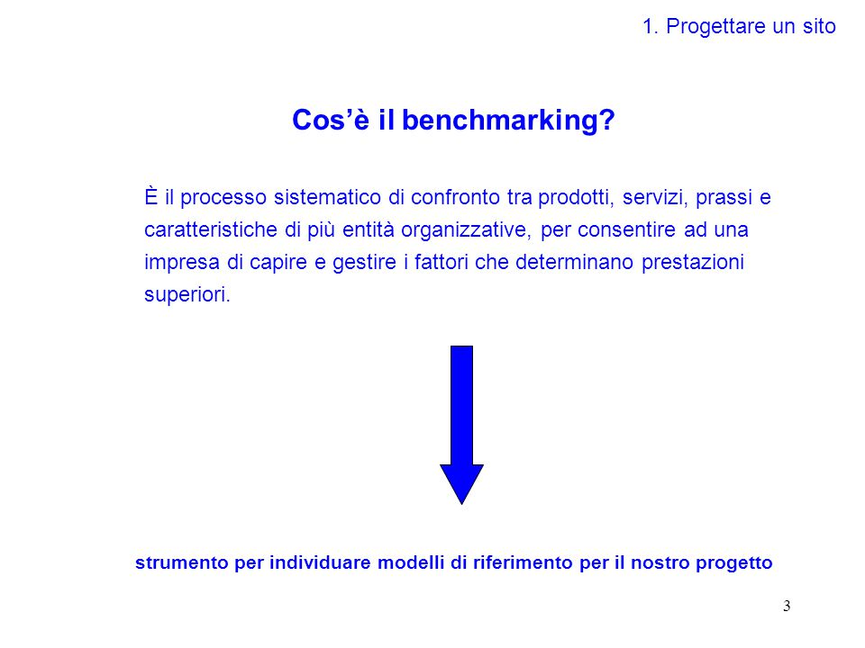 3 Cos'è il benchmarking.