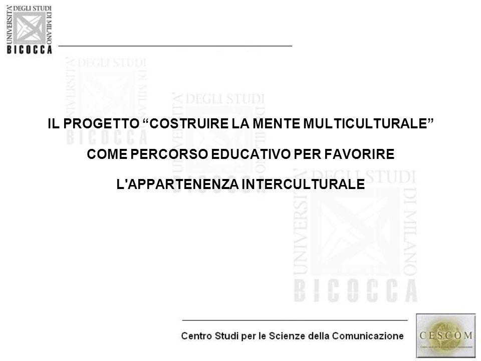 """IL PROGETTO """"COSTRUIRE LA MENTE MULTICULTURALE"""" COME PERCORSO EDUCATIVO PER FAVORIRE L'APPARTENENZA INTERCULTURALE"""