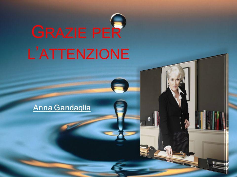 G RAZIE PER L ' ATTENZIONE Anna Gandaglia
