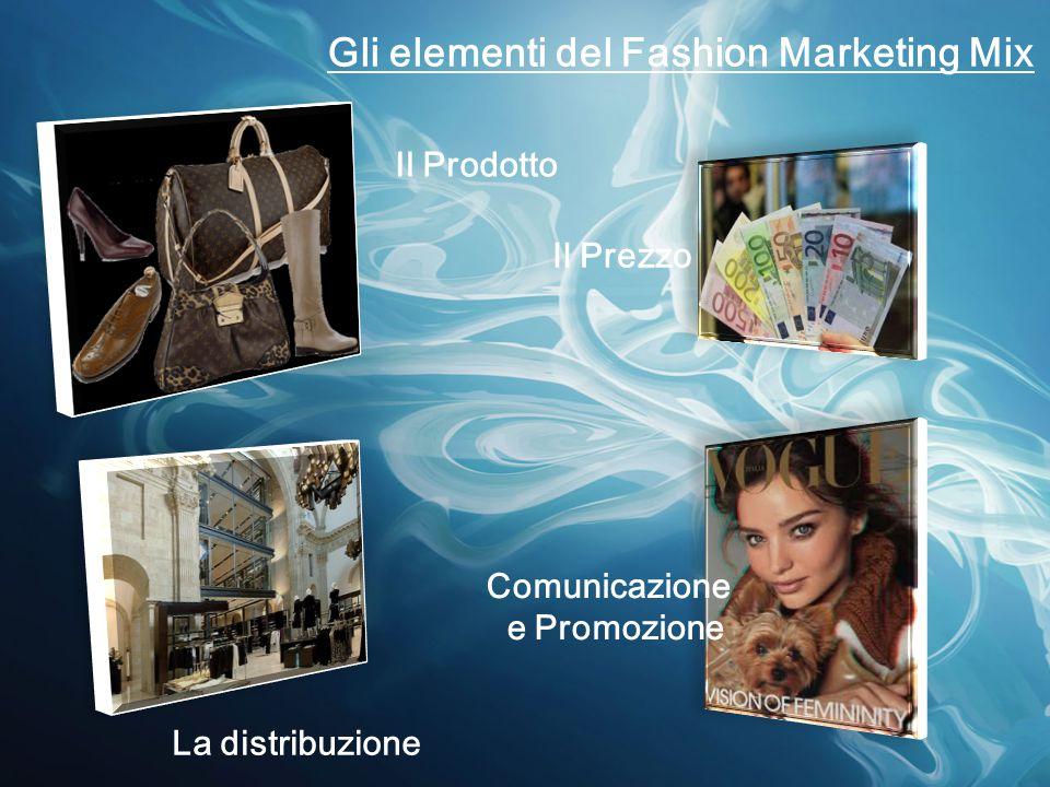 Gli elementi del Fashion Marketing Mix Il Prodotto Il Prezzo La distribuzione Comunicazione e Promozione