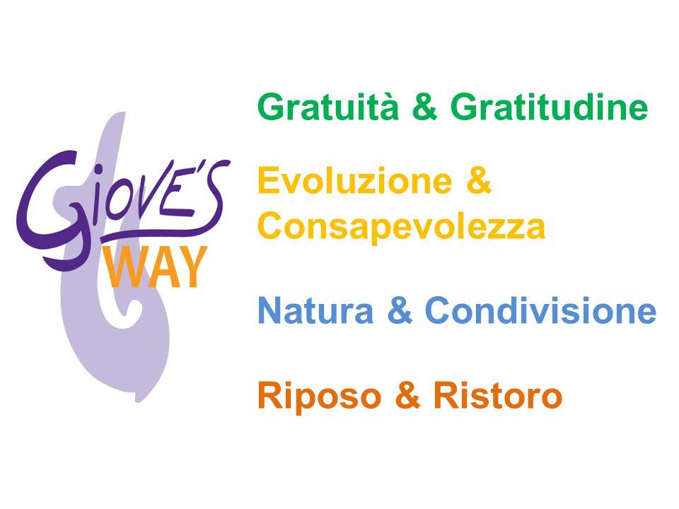 Gratuità & Gratitudine Evoluzione & Consapevolezza Natura & Condivisione Riposo & Ristoro