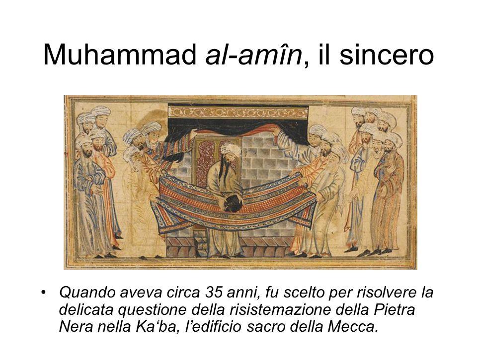 Il giovane Muhammad viene riconosciuto dal monaco Bahira come profeta Il primo riferimento al dono profetico: un monaco siriano riconosce in lui il profeta atteso dall'umanità, grazie a un segno sulle sue spalle (590/595 circa).