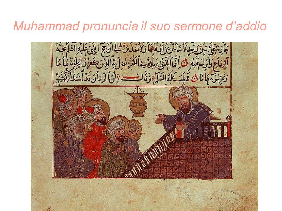Le conquiste di Muhammad Battaglia di Badr 624 Battaglia di Uhud 625 Battaglia del fossato 627 Trattato di Hudaybiyya 628 'umra (visita) di Muhammad alla Mecca 629 Conquista della Mecca 630 Pellegrinaggio dell'addio e morte 632