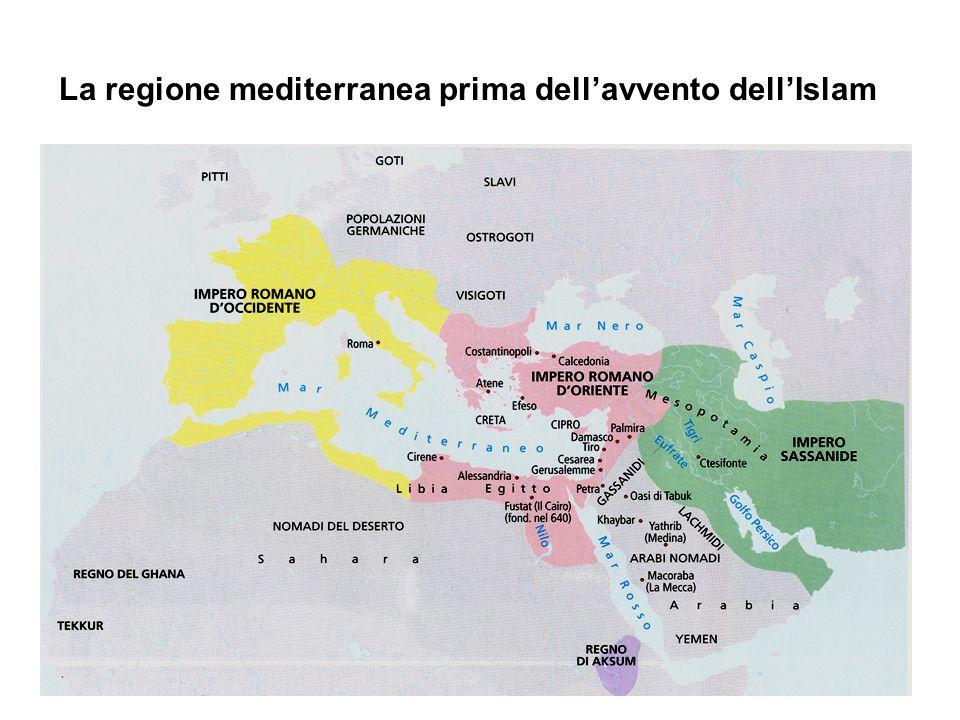 La regione mediterranea prima dell'avvento dell'Islam
