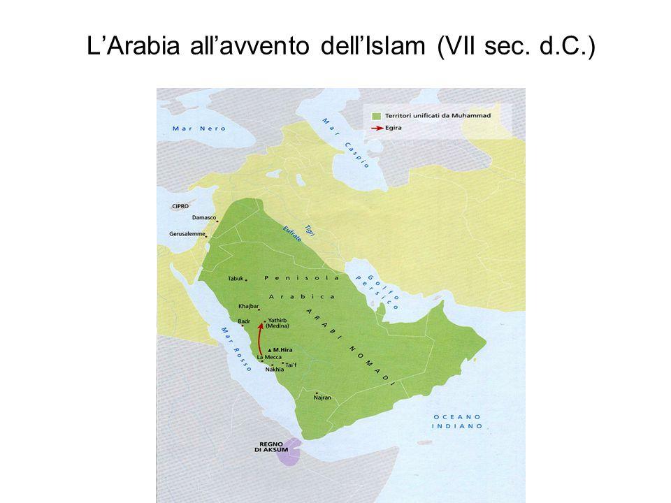 L'Arabia all'avvento dell'Islam (VII sec. d.C.)