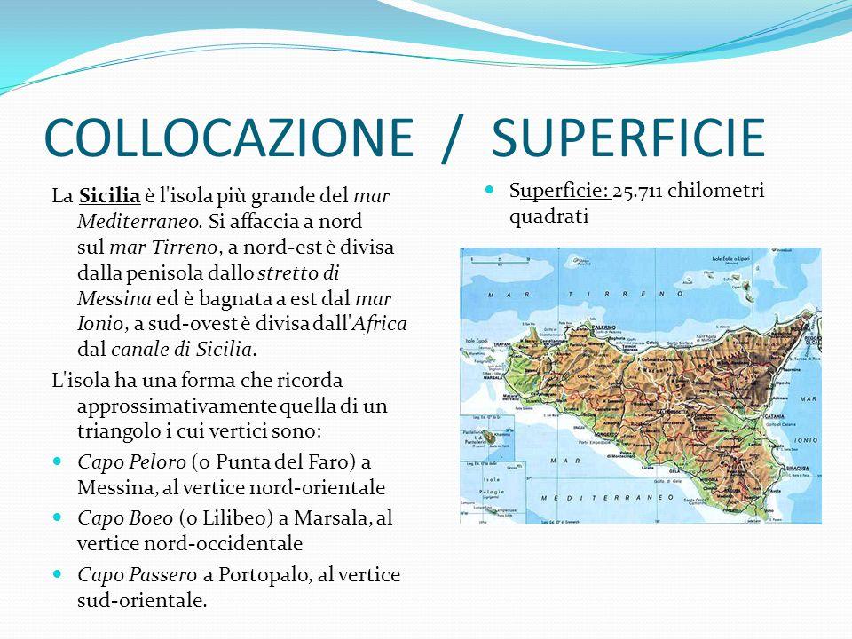 ORIGINI Come è facile osservare la Sicilia ha geograficamente una forma di triangolo.