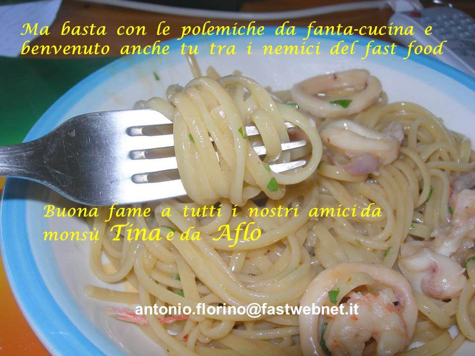 In ogni caso il piatto è più che gradevole per quelli che non hanno queste nostre sottigliezze nella cottura della pasta elevata a Vangelo