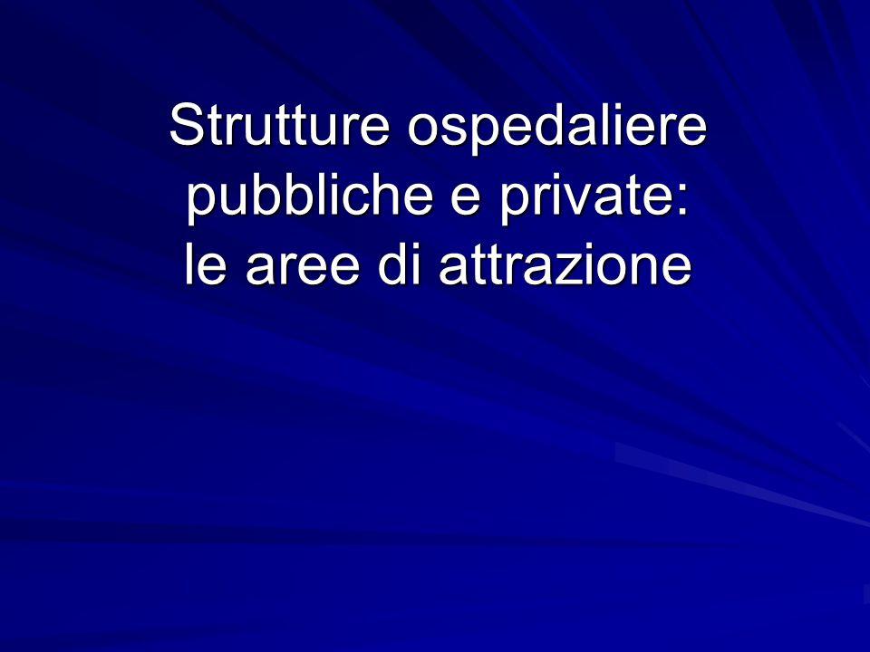 Strutture ospedaliere pubbliche e private: le aree di attrazione
