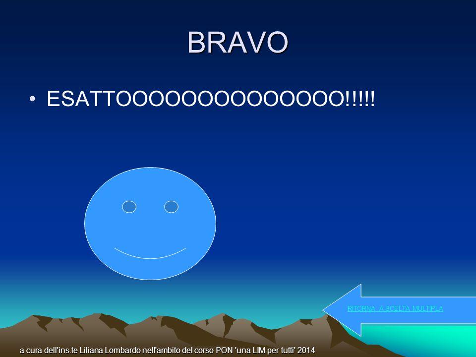 BRAVO ESATTOOOOOOOOOOOOOO!!!!.