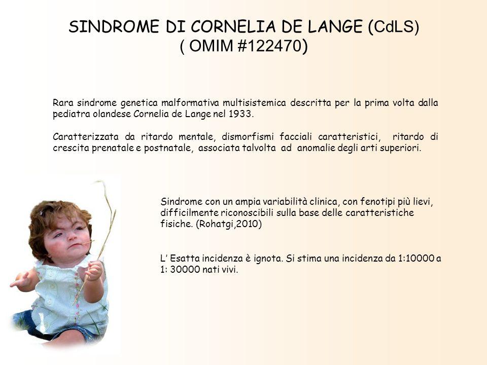 Sindrome con un ampia variabilità clinica, con fenotipi più lievi, difficilmente riconoscibili sulla base delle caratteristiche fisiche. (Rohatgi,2010