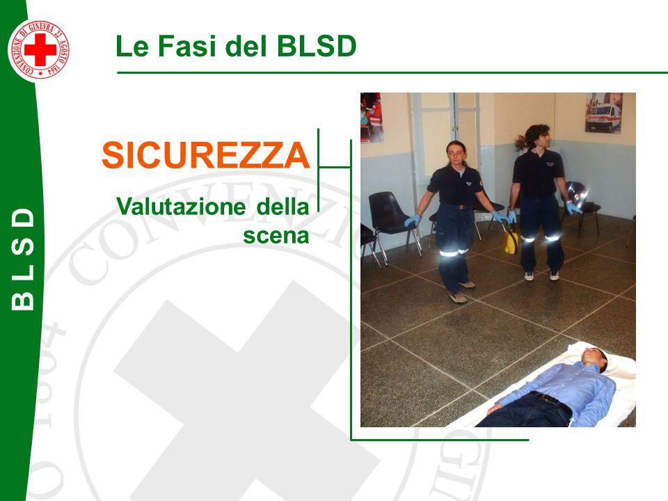 B L S D Le Fasi del BLSD SICUREZZA Valutazione della scena