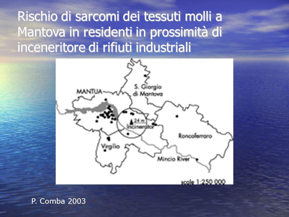 Rischio di sarcomi dei tessuti molli a Mantova in residenti in prossimità di inceneritore di rifiuti industriali P.