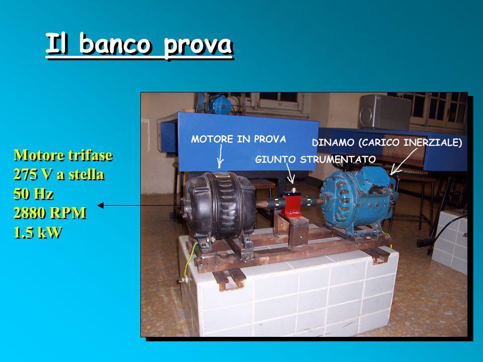 Il banco prova Motore trifase 275 V a stella 50 Hz 2880 RPM 1.5 kW Motore trifase 275 V a stella 50 Hz 2880 RPM 1.5 kW
