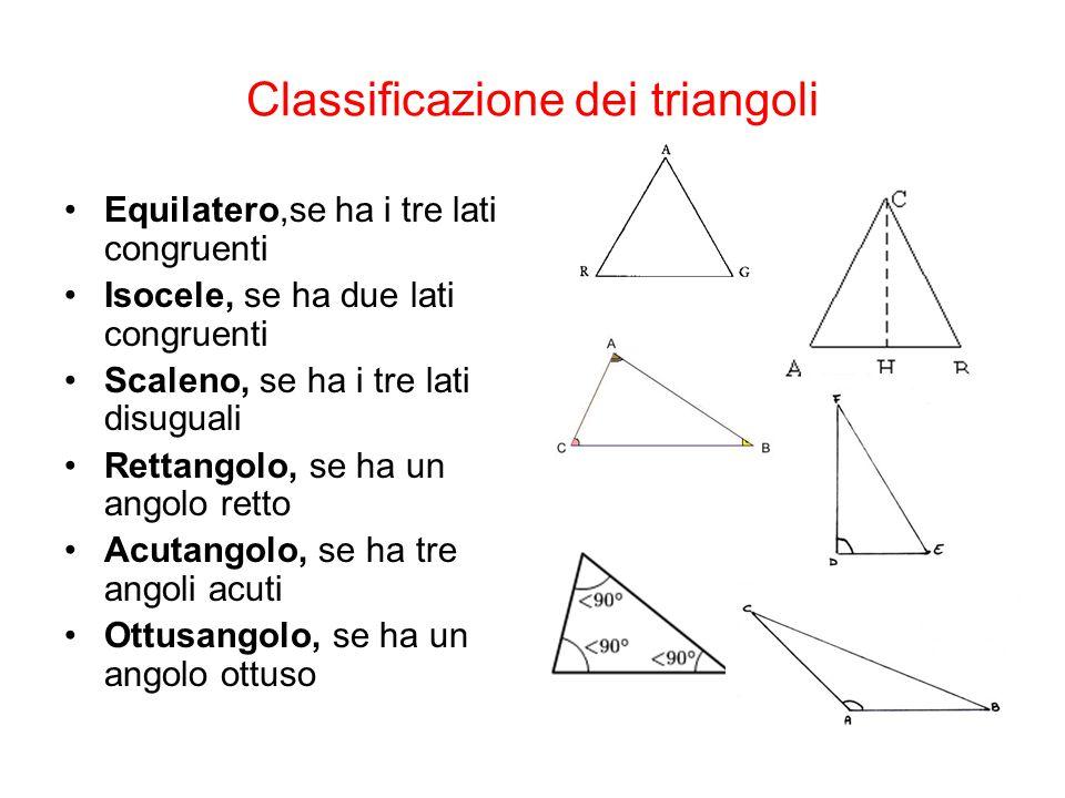 Altezze di un triangolo e ortocentro L'altezza di un triangolo è il segmento di perpendicolare condotto da un vertice al lato opposto o al suo prolungamento.