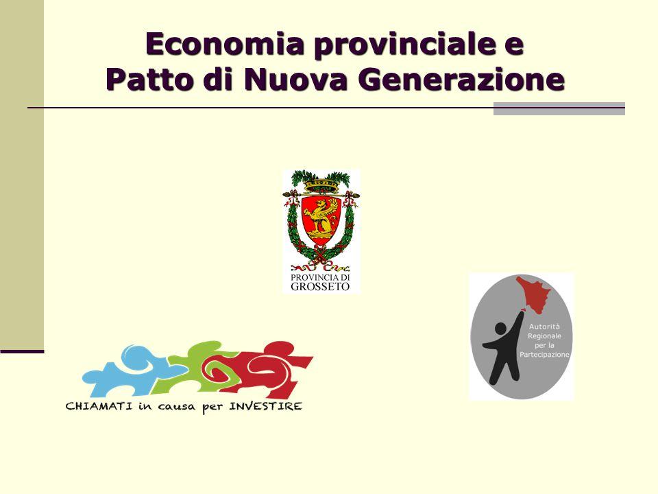 Economia provinciale e Patto di Nuova Generazione