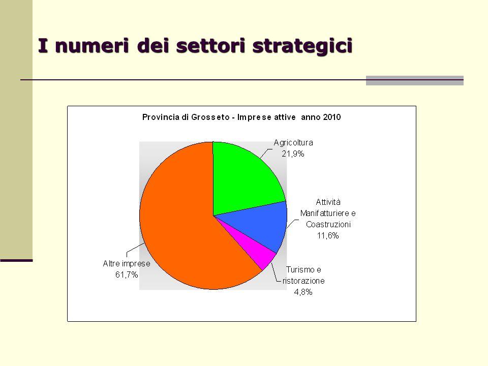 I numeri dei settori strategici