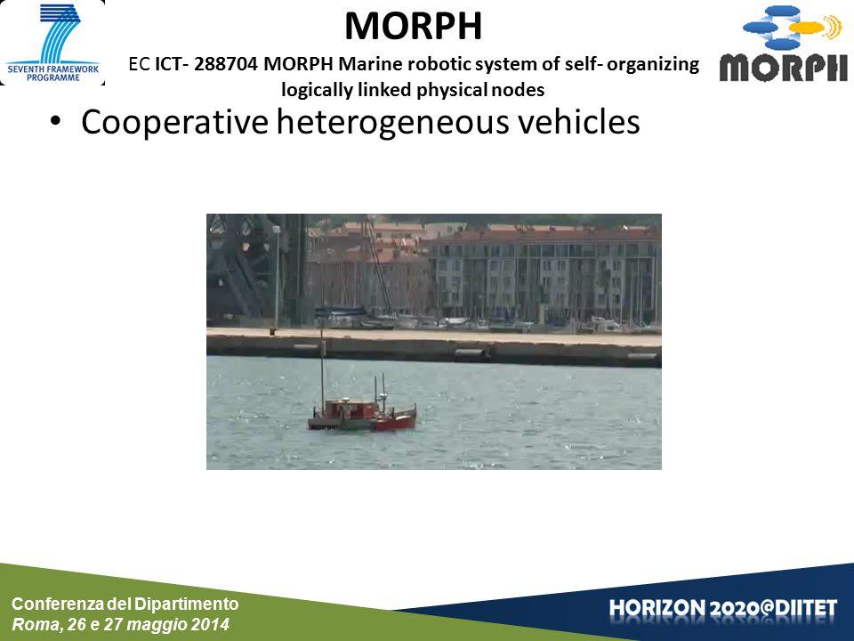 Conferenza del Dipartimento Roma, 26 e 27 maggio 2014 CADDY EC FP7 ICT-611373 CADDY: Cognitive autonomous diving buddy Cooperative heterogeneous vehicles