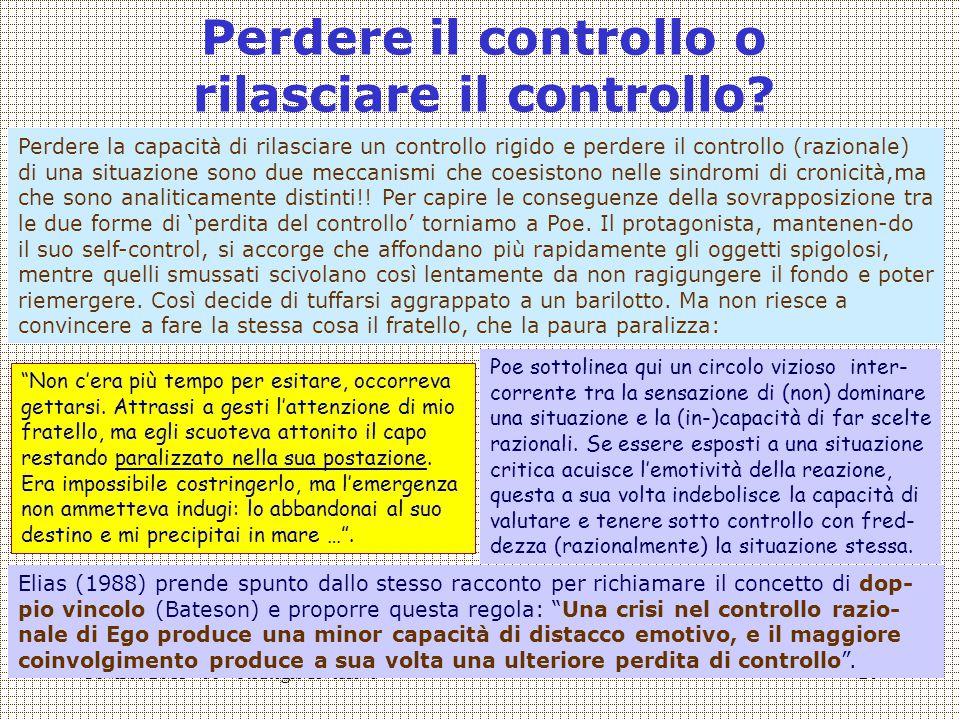 Covisco 2013 - 08 - Strategie diversive20 Perdere il controllo o rilasciare il controllo.