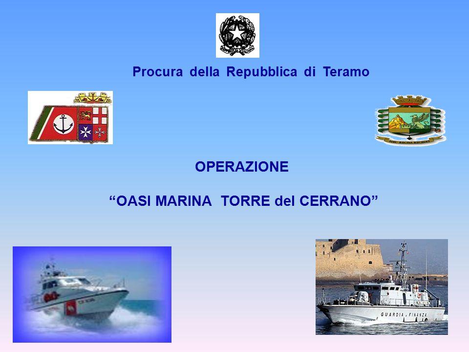 """OPERAZIONE """"OASI MARINA TORRE del CERRANO"""" Procura della Repubblica di Teramo"""