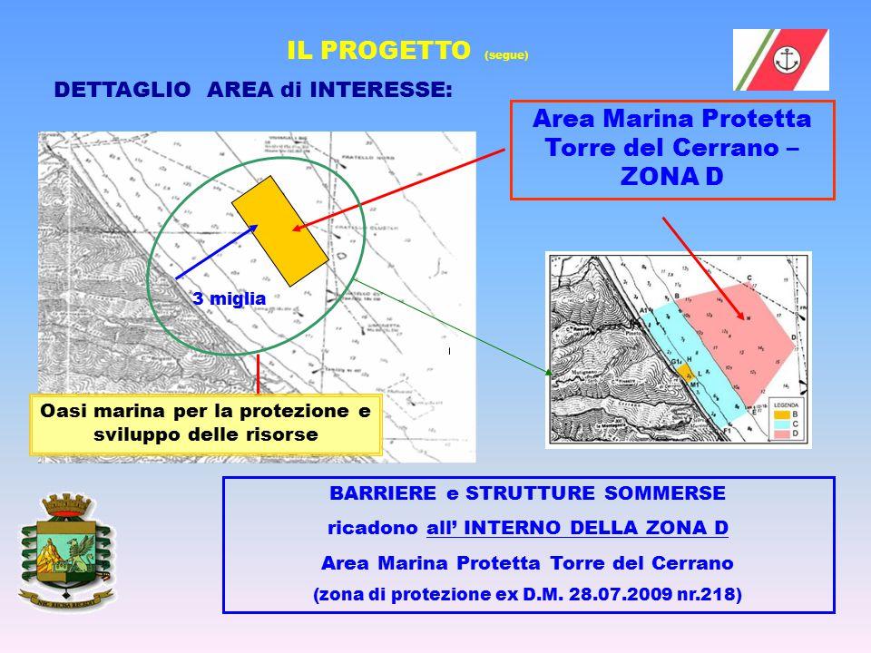 DETTAGLIO AREA di INTERESSE: Area Marina Protetta Torre del Cerrano – ZONA D BARRIERE e STRUTTURE SOMMERSE ricadono all' INTERNO DELLA ZONA D Area Mar
