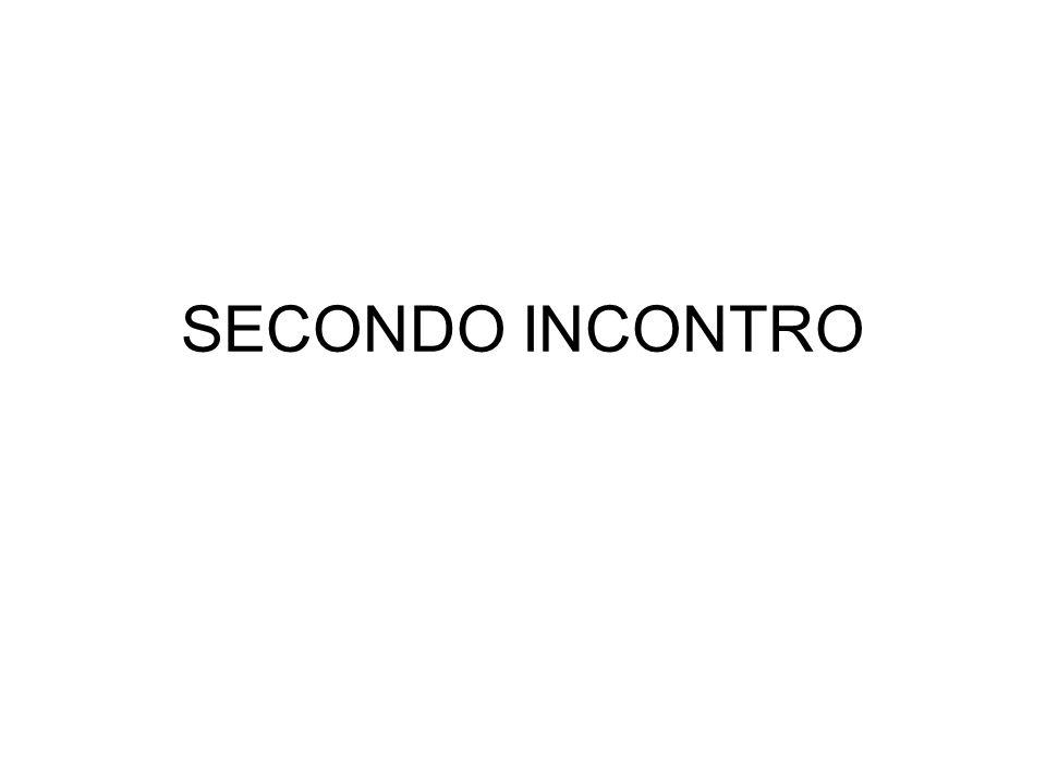 SECONDO INCONTRO