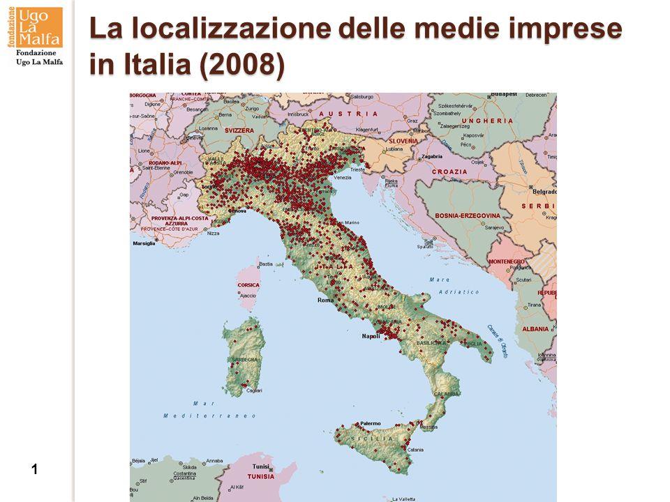 La localizzazione delle medie imprese in Italia (2008) 1