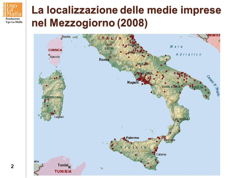 La localizzazione delle medie imprese nel Mezzogiorno (2008) 2