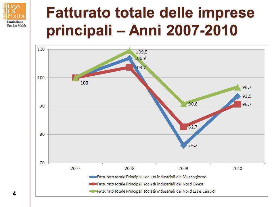 Fatturato totale delle imprese principali – Anni 2007-2010 4