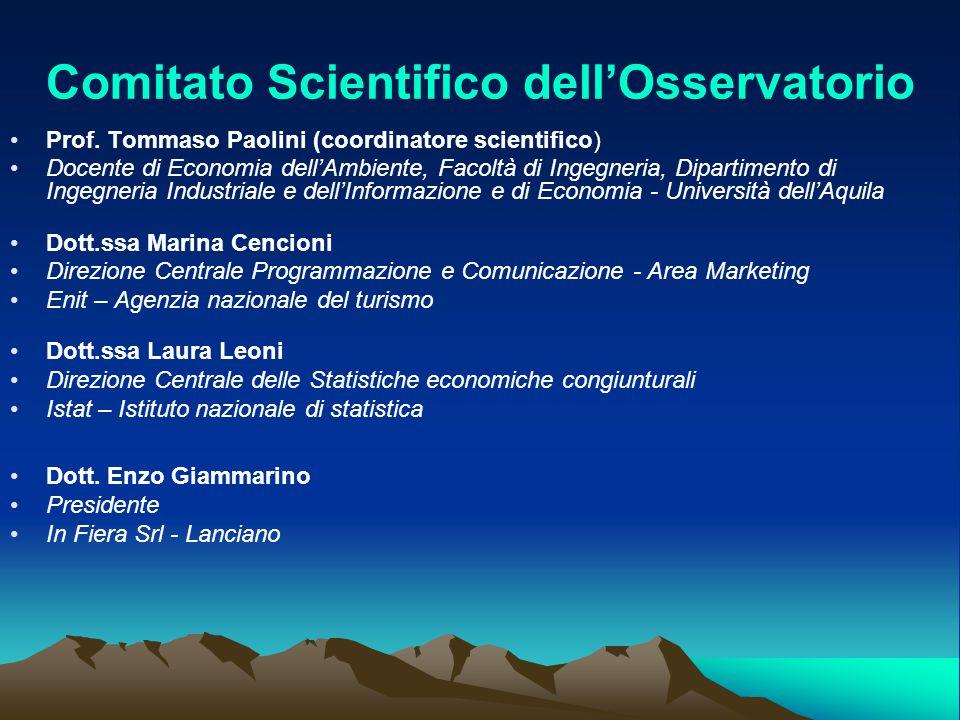 Comitato Scientifico dell'Osservatorio Prof. Tommaso Paolini (coordinatore scientifico) Docente di Economia dell'Ambiente, Facoltà di Ingegneria, Dipa
