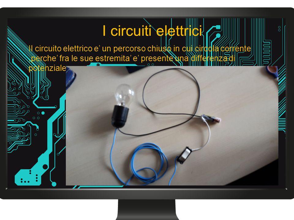 Il circuito elettrico e' un percorso chiuso in cui circola corrente,perche' fra le sue estremita' e' presente una differenza di potenziale I circuiti