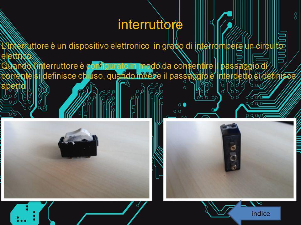 interruttore L'interruttore è un dispositivo elettronico in grado di interrompere un circuito elettrico. Quando l'interruttore è configurato in modo d