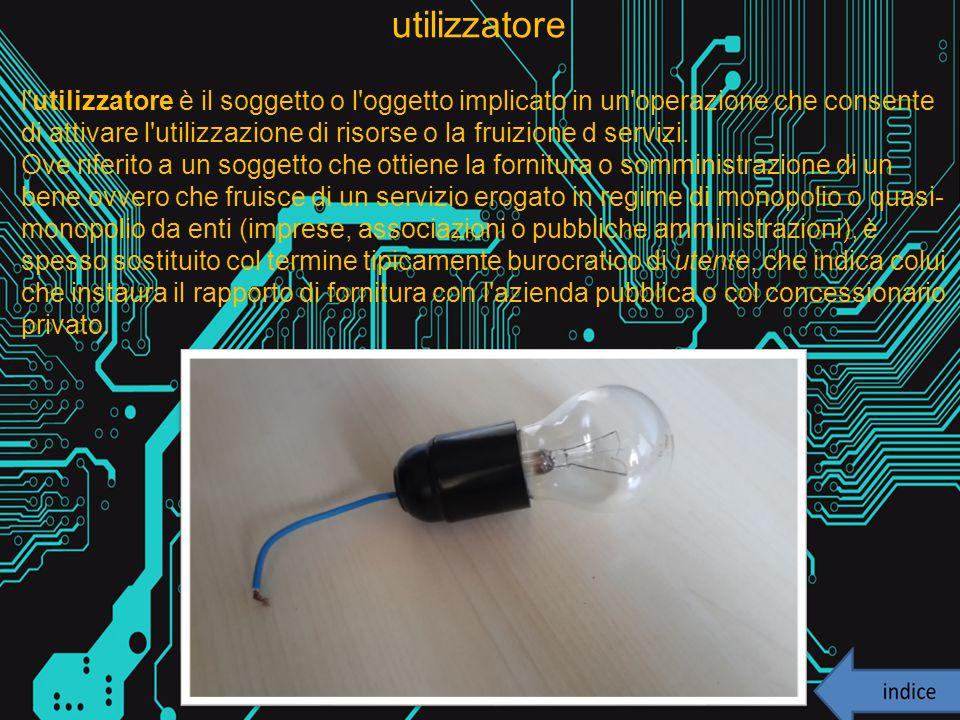 utilizzatore l'utilizzatore è il soggetto o l'oggetto implicato in un'operazione che consente di attivare l'utilizzazione di risorse o la fruizione d