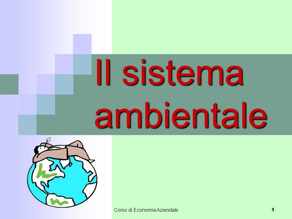 Il sistema ambientale 1 Corso di Economia Aziendale