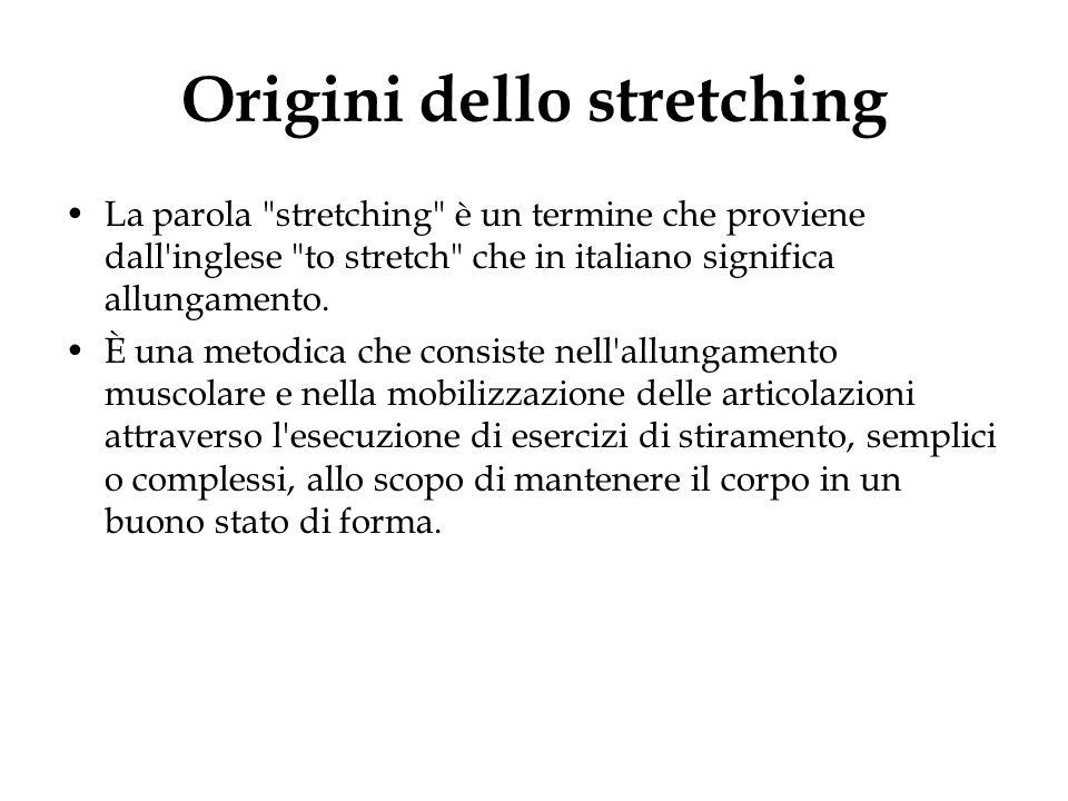 Origini dello stretching La parola