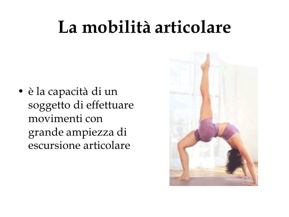 La mobilità articolare è la capacità di un soggetto di effettuare movimenti con grande ampiezza di escursione articolare