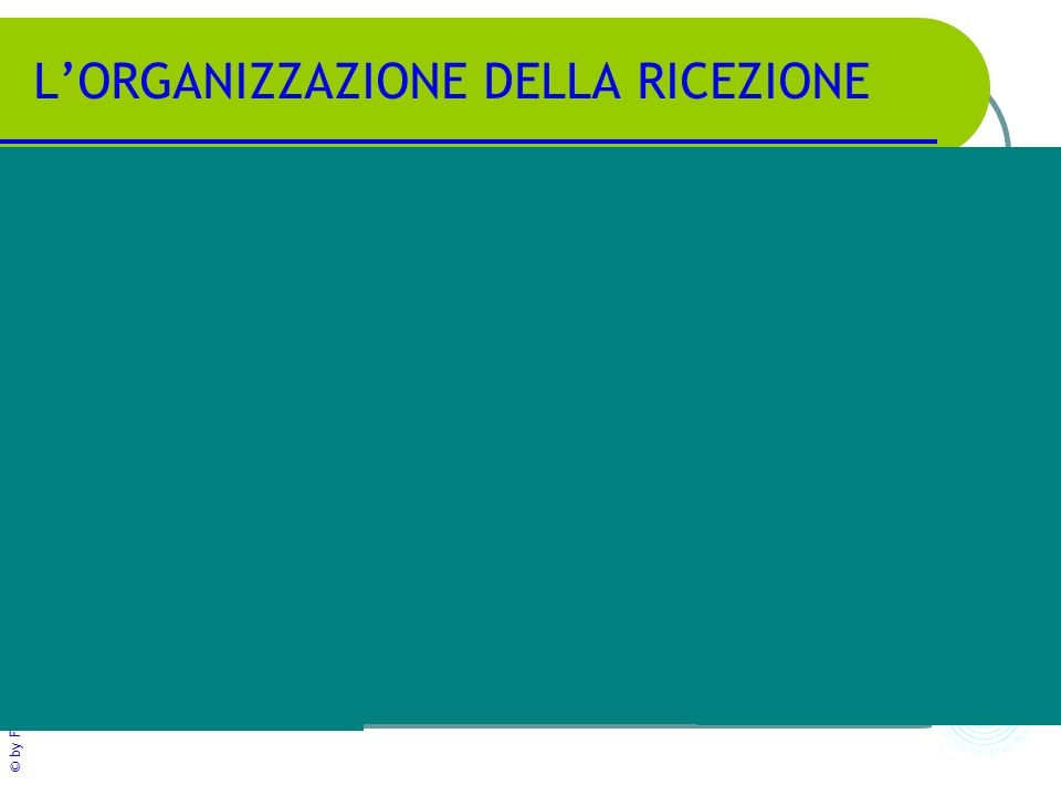 © by FIPAV - Centro Qualificazione Nazionale L'ORGANIZZAZIONE DELLA RICEZIONE