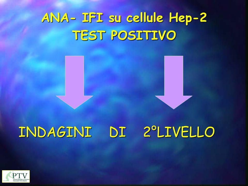 ANA- IFI su cellule Hep-2 TEST POSITIVO INDAGINI DI 2°LIVELLO