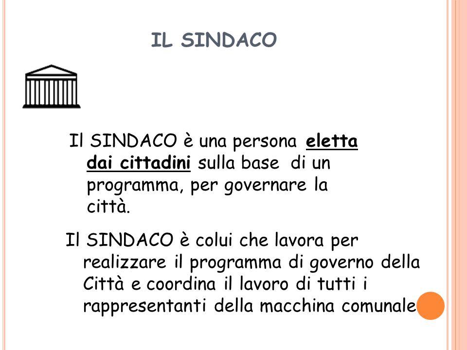 IL CONSIGLIO COMUNALE Compito principale del Consiglio consiste nel fare proposte per l'amministrazione della Città e ha un compito di controllo dell'