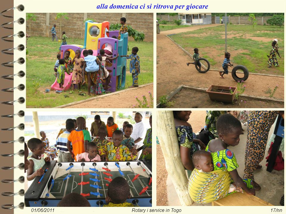 01/06/2011Rotary i service in Togo17/nn alla domenica ci si ritrova per giocare