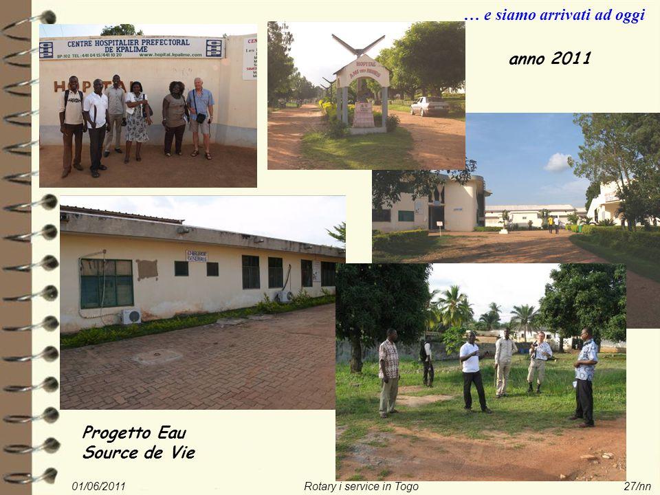 01/06/2011Rotary i service in Togo27/nn … e siamo arrivati ad oggi Progetto Eau Source de Vie anno 2011