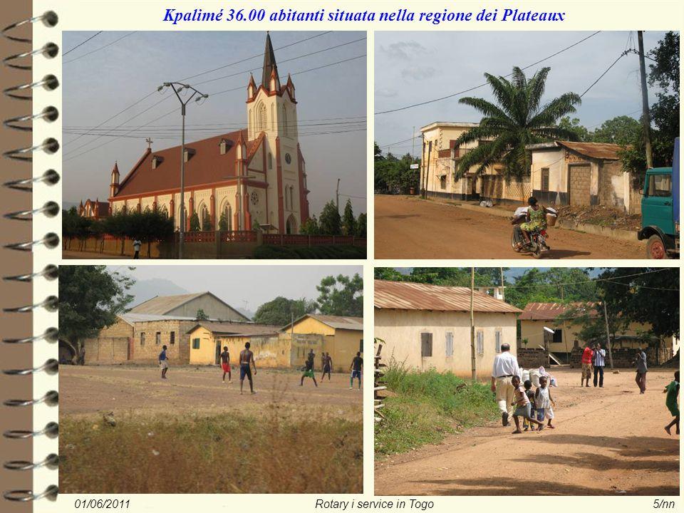 01/06/2011Rotary i service in Togo5/nn Kpalimé 36.00 abitanti situata nella regione dei Plateaux