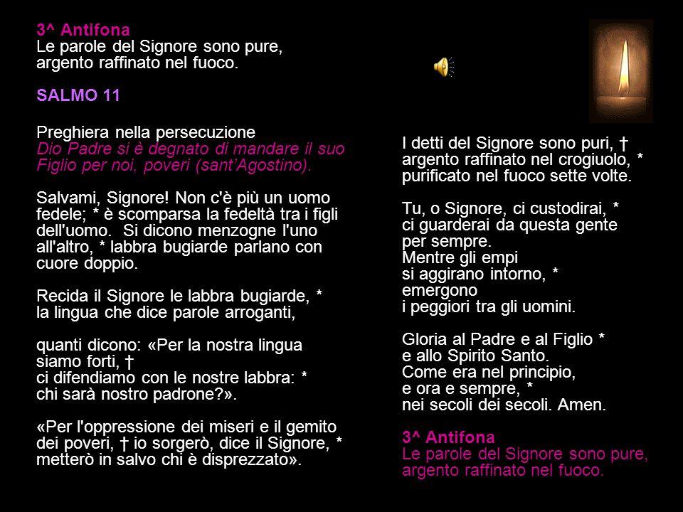 2^ Antifona L'affanno e il dolore degli umili, tu li vedi, o Signore. SALMO 9 B 33-39 (II) Preghiera e ringraziamento Beati voi poveri, perché vostro
