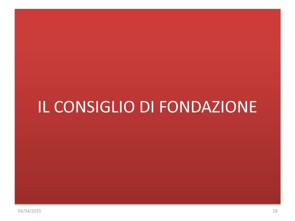 IL CONSIGLIO DI FONDAZIONE 04/04/201518
