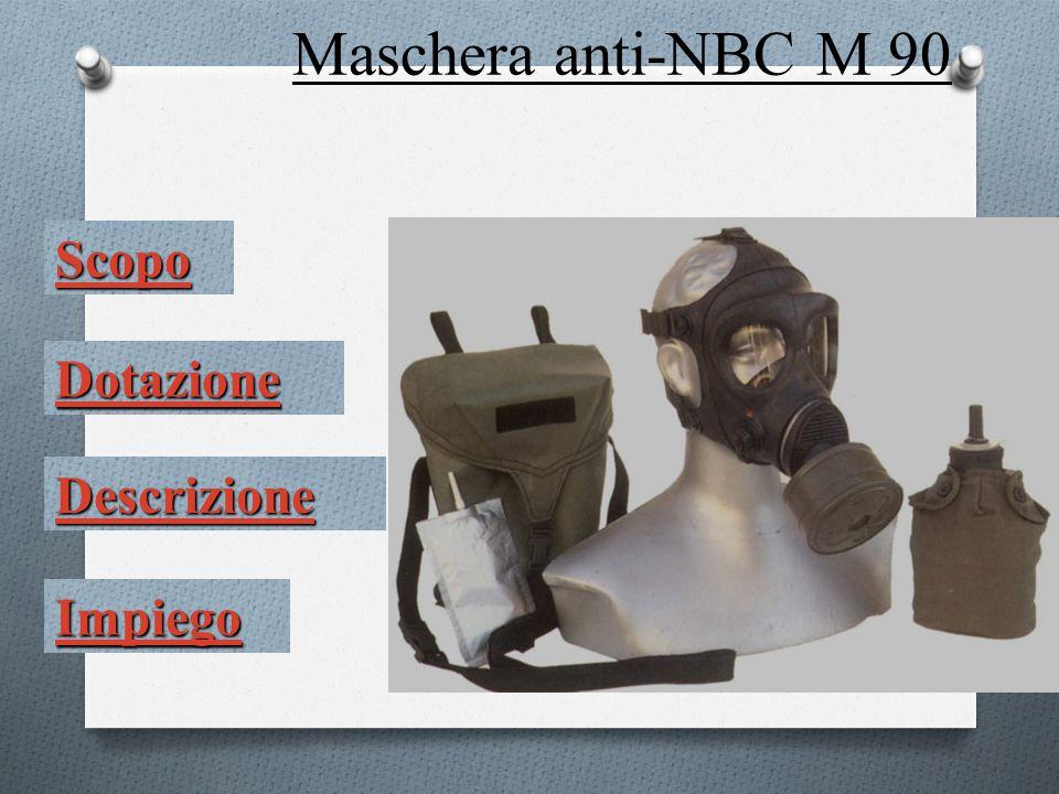 ScopoScopo Garantisce la protezione delle vie respiratorie, degli occhi e del viso da aggressivi NBC allo stato solido, vapore, aerosol.