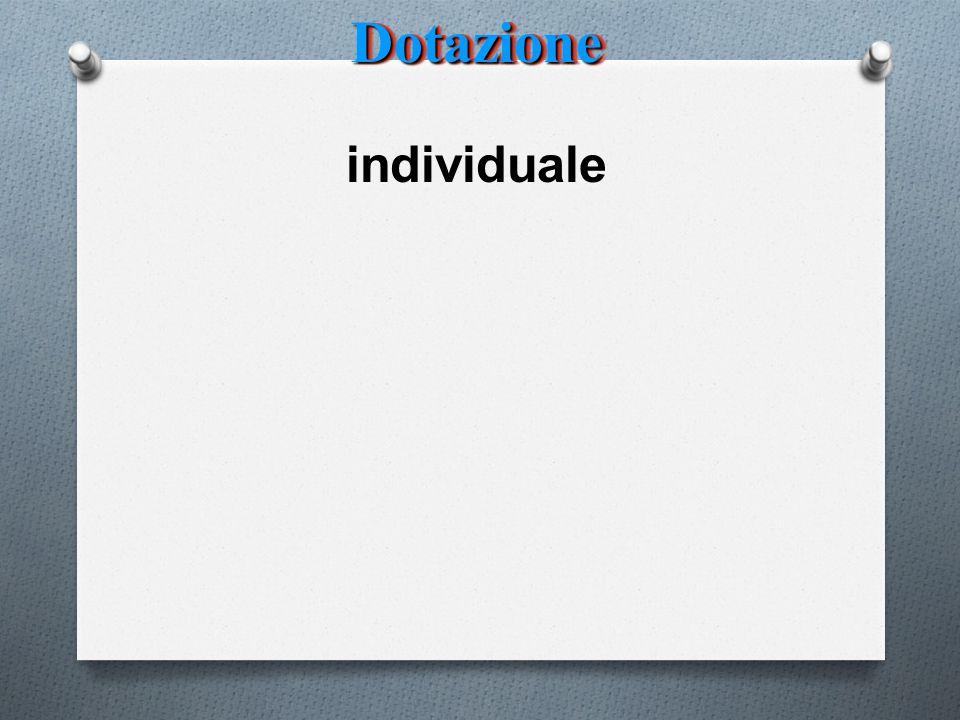 DotazioneDotazione individuale