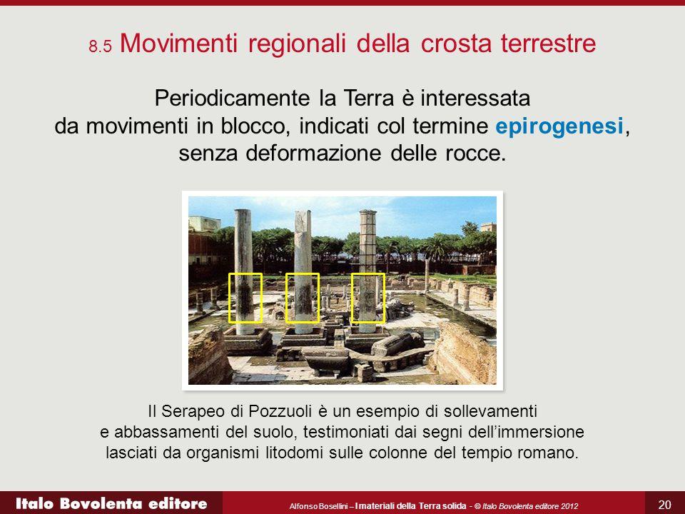 Alfonso Bosellini – I materiali della Terra solida - © Italo Bovolenta editore 2012 20 8.5 Movimenti regionali della crosta terrestre Periodicamente l